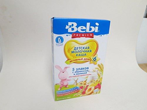 BEBI 5 Grass w/ Apricot & Raspberry Baby Milk Cereal, 7.05 oz/ 200 g
