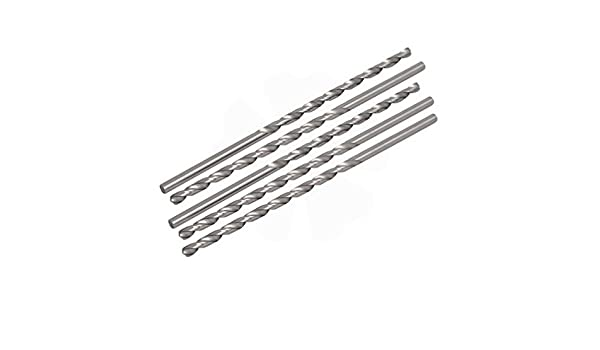 Antrader Spiral Flute 1//2 Reduced Shank HSS Twist Drill Bits with 14mm Cutting Dia 150mm Long
