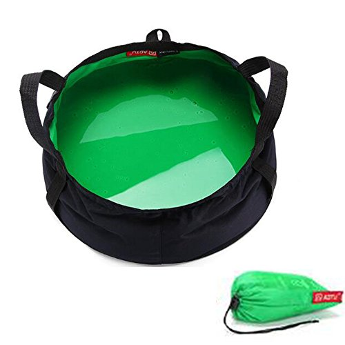 Camping Bucket For Hiking, 1PCS 8.5L Portable Folding Cloth Sink with Storage Bag, Collapsible Wash Basin For Kitchen Cook Washing Shower, Light Weight Water Container For Outdoor Beach (Pvc Free Solar Shower)