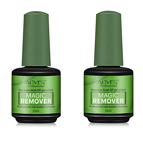 2Pack Magic Nail Polish Remover,Professional Removes Soak-Off Gel Nail Polish In 3-5 Minutes,Quickly & Easily,Don't Hurt Your Nails