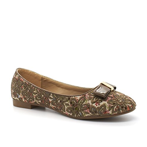 Donna cachi Ballet London Verde Footwear yv6OZnE