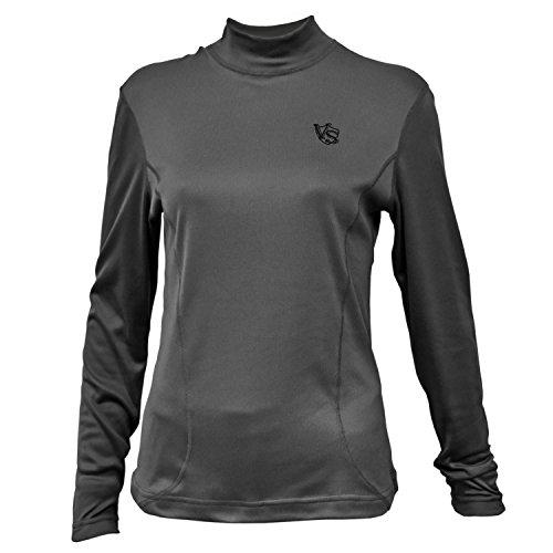 Vital Salveo-GermaniumWomen hollow quick-drying warm high-collar shirt / Dark Grey / Size #10