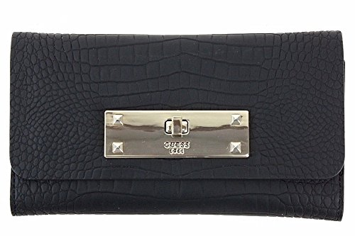 GUESS Kyra Crocodile-Embossed Slim Clutch