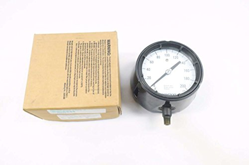 ASHCROFT 45-1279-AS-02L-200 DURAGAUGE 0-200PSI 1/4 IN NPT PRESSURE GAUGE D545845