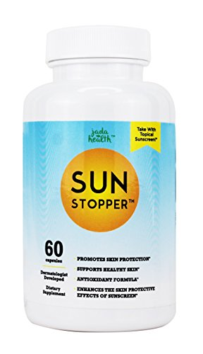 Sunstopper - Sun Protection Antioxidant Supplement, Nicotinamide & Polypodium Leucotomos, Boosts Skin Immune System - 60 Day Supply