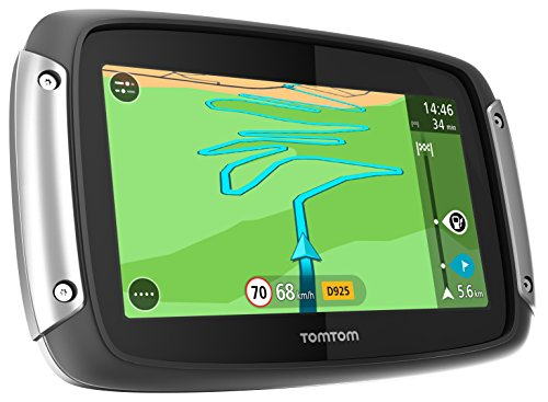 TomTom Rider 40 Motorradnavigationsgerät (10,9 cm (4,3 Zoll) Display, Free Lifetime Maps, Europa 19, kurvenreiche Strecke, Lifetime Traffic) schwarz