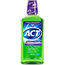 ACT Total Care Anticavity Fluoride Mouthwash Fresh Mint, 33.8-Ounce Bottle (Pack of 3)
