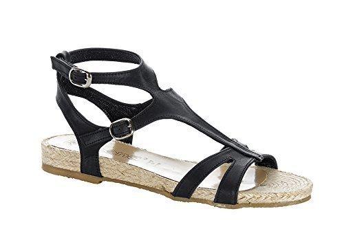 CHILLANY Sandalette - Sandalias de vestir de cuero para mujer Nero (nero)