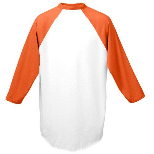Augusta Sportswear Men's Baseball Jersey, 3X-Large, White/Orange