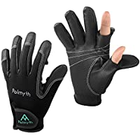 Palmyth Neoprene Fishing Gloves for Men and Women 2 Cut...