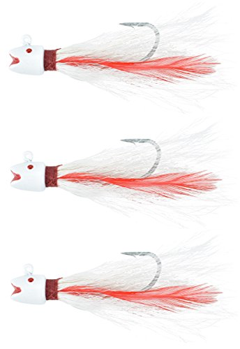 Last Cast Tackle 1.0-3.0oz Smiling Bucktail Fishing Lure Jig - 3 Pack (3.0 Ounce - 3 Pack)