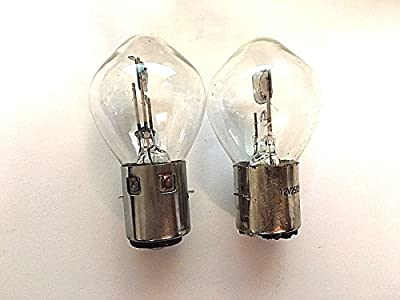 A Pair S1 12V 25W/25W Headlight Bulb Fits Atv Scooter Moped Gokart Motorcycle