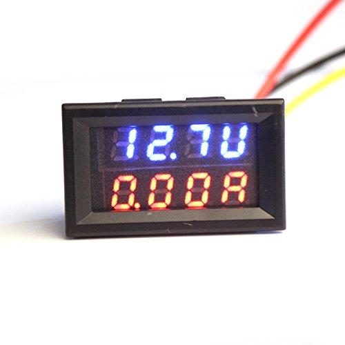 LtrottedJ Dual LED DC Digital Ammeter Voltmeter ,LCD Panel Amp Volt Meter 10A ()