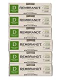 Rembrandt AntiCavity Fluoride Toothpaste with Peroxide Peppermint Flavored 3.5oz Pack of 6 (6 Pack)