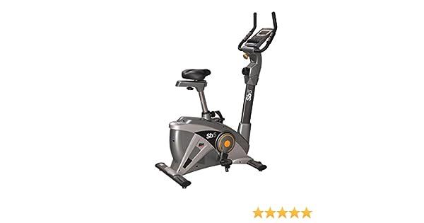 BH Fitness SB5 H8250 Bicicleta estática. Volante de inercia de 9 kg. Freno magnético. Monitor LCD. Patas niveladoras Ajustables para Mayor Estabilidad. Ruedas de Transporte. Gris: Amazon.es: Deportes y aire libre