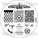 MESSY MANSION MM18 Nail Art Stamping Plate - Shabby Chic Themed