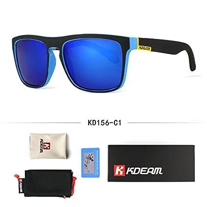 7b7608a23 BuyWorld Fashion Guy's Sun Glasses from Kdeam Polarized Sunglasses Men  Classic Design All-Fit Mirror Sunglass with Brand Box CE: Amazon.in: Home &  Kitchen