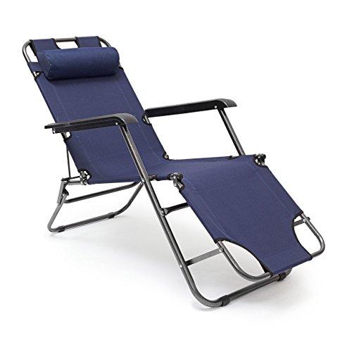 Relaxdays Folding Lounge Chair 35 x 60.5 x 153 cm Patio Furniture...