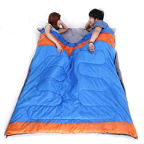 LOLIVEVE 2 Personas Al Aire Libre Que Acampan Yendo De Excursión Bolso De Dormir del Bolso De Dormir Doble del Saco De Dormir del Algodón: Amazon.es: ...