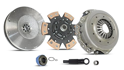 (Clutch With Flywheel Kit Works With FORD RANGER EXPLORER MAZDA B4000 Sport Xl Xlt Fx4 Se Edge Tremor Ds Postal 2001-2008 4.0L V6 GAS SOHC Naturally Aspirated (6-Puck Clutch Disc Stage 2))