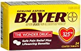 Genuine Bayer Aspirin 325mg Tablets, 24-Count (Pack of 2)