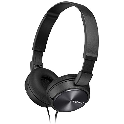 Sony MDRZX310 Foldable Headphones – Metallic Black