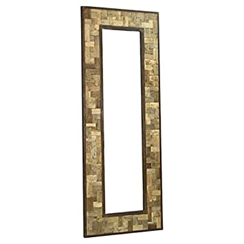 Reclaimed Wood Metal 30quot X 80quot Leaning Floor Mirror