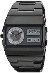 Vestal Unisex MMC033 Metal Monte Carlo Silver Black Digital Watch