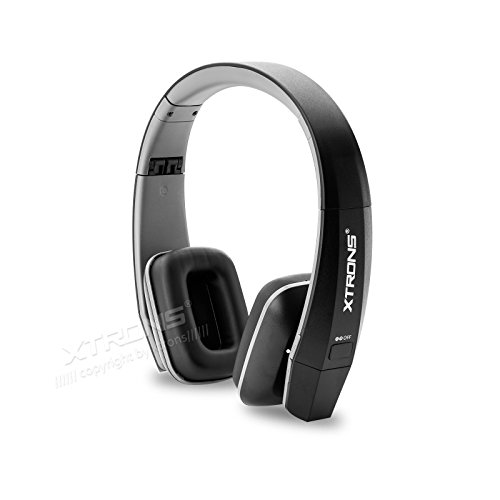 XTRONS Black IR Wireless Dual Channels Infrared Stereo Cordless Headphones 2 Channels for Children Kids Dual Channel Infrared Stereo Headphones