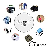 HUAYY 4 Inches Width 2 Yards Length,Sew on Hook and Loop Style,Non-Adhesive Nylon Strips Fabric,Black