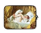 Jean-Honore Fragonard - Funda protectora para portátil y iPad (incluye funda para perro), Negro, 33.02 cm (13 pulgadas)