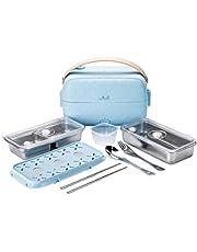 Yum Asia Bonsai Bento Elektrisk riskokare och ångkokare (0.2L, 1 kopp), 220-240V UK/EU Power (Sky Blue)