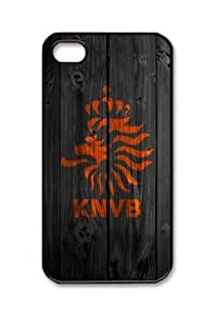 Customizablestyle Knvb Holland with Wood iPhone4/4S Case Hard Shell(pc Material)
