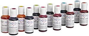 AmeriColor Electric Color Soft Gel Paste Food Color 12 Pack Kit