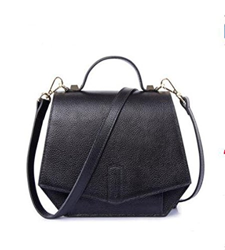 9 7 Black Bags Leather inch 9 Crossbody Ms bag 8 Shoulder LXopr 3 8 Genuine backpack S7SpR