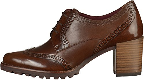 Tamaris 23302, Zapatos de Cordones Oxford para Mujer, Marrón (Maroon), 37 EU