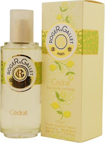 Roger & Gallet Cedrat by Roger & Gallet for Men And Women Eau Fraiche Parfume Spray, 3.4-Ounce