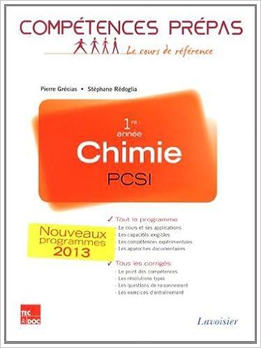 Chimie 1re année PCSI