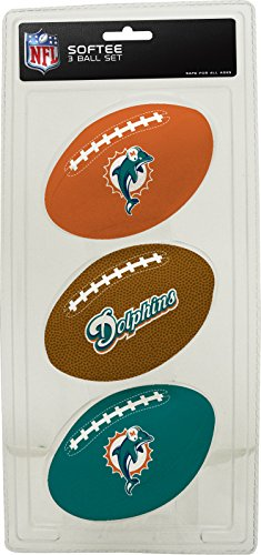 Dolphins Dolphins Miami Small (NFL Miami Dolphins Kids Softee Football (Set of 3), Small, Teal)