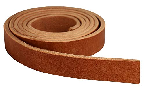 Premium Hermann Oak Harness Leather Blank Strap, 100% Leather Strip, 13 Ounce Weight [13/64