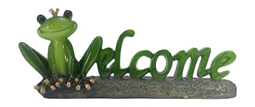 Frog Garden Sign (Unique Novelty Frog Welcome Design Figuring, 14