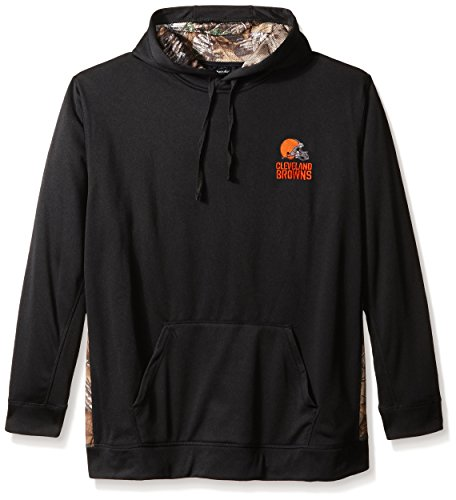 Cleveland Browns Hoody Sweatshirt - Dunbrooke Apparel NFL Cleveland Browns Men's 5436.0Ranger Camo Accent Tech Hoody, Black with Camo, Large