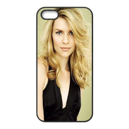 Claire Danes Blonde Dress Hairstyle Make Up Celebrity coque iPhone 4 4S cellulaire cas coque de téléphone cas téléphone cellulaire noir couvercle EEEXLKNBC24256