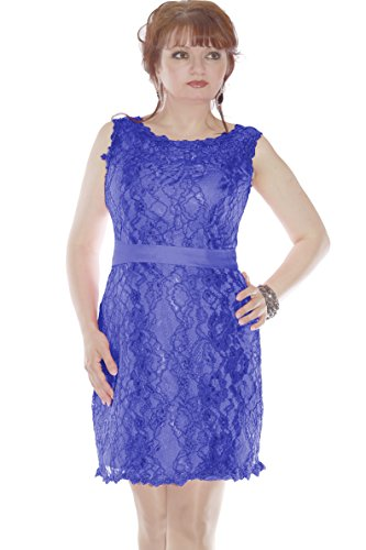 aus Royalblau Spitze Cocktail Cocktailkleid amp; Christine Damen Juju xCOq66