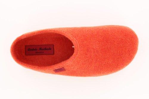 Andres Machado - Pantuflas para mujer Alpino Naranja