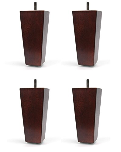 5'' Furniture Wood Tapered Leg Walnut Finish - Set of 4 Legs by Hunt Brothers