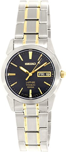 Seiko Men's SGG735 Titanium Titanium Two Tone Bracelet (Seiko Mens Titanium Case)