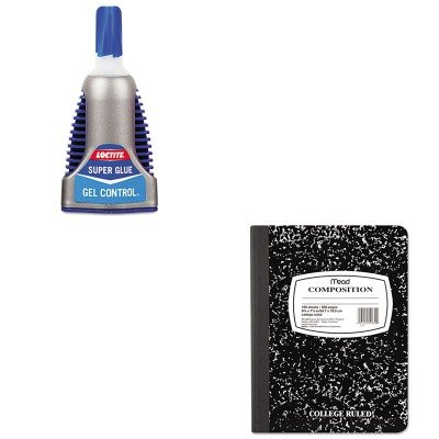 KITLOC1364076MEA09910 - Value Kit - Loctite Super Glue Easy Squeeze Gel (LOC1364076) and Mead Black Marble Composition Book (MEA09910)