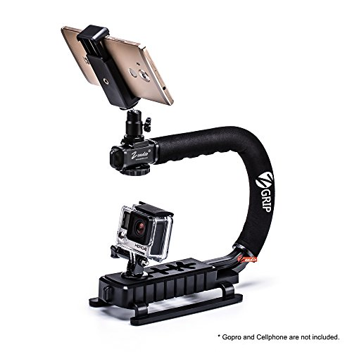 Zeadio Handheld Stabilizer + Universal Smartphone Holder + 360 Degree Rotating Adapter for iPhone Sumsung Sony LG Huawei Motorola Cellphone Digital SLR Camera Camcorder