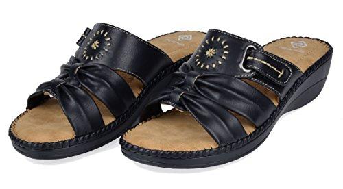PAIRS DREAM Women's 08 black Platform Wedge Sandal RggndHBr